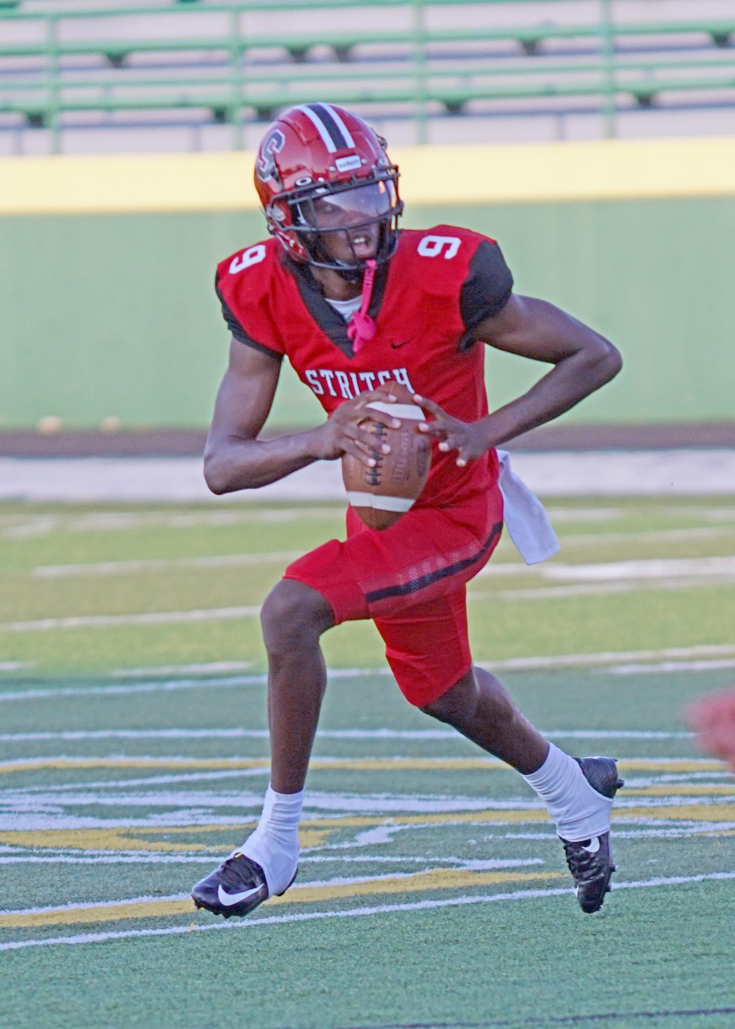 "Cardinal Stritch senior quarterback Thomas Foust. (Press photo by Doug Karns/<a href=""http://www.DougKarns.smugmug.com"">www.DougKarns.smugmug.com</a>)"