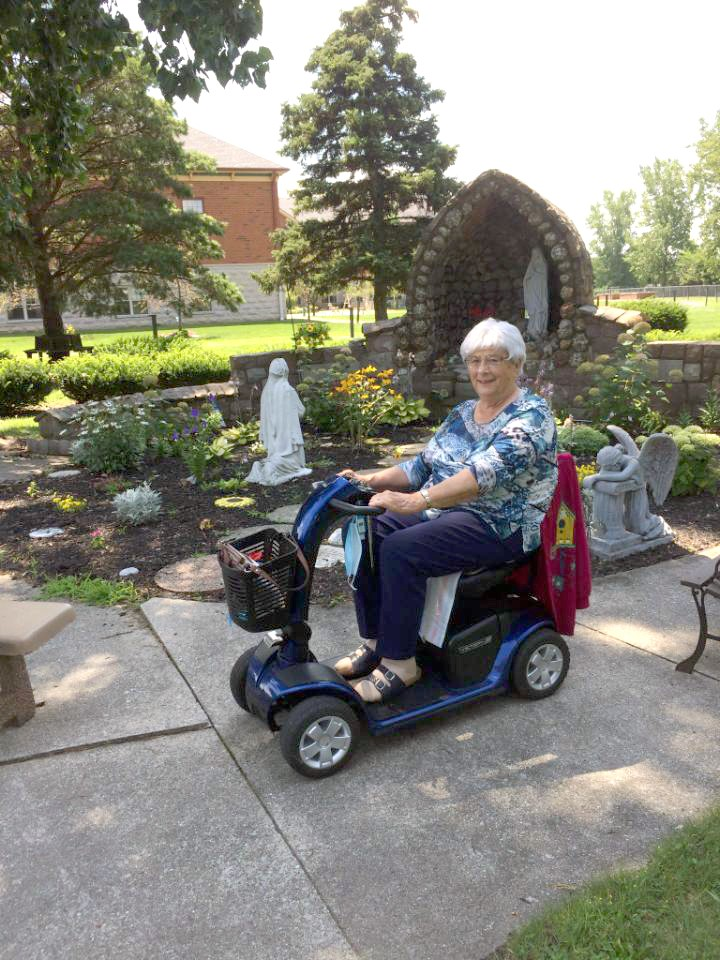 """""""A labor of love"""" – that's how Dorothy Czaja describes her hobby of planting and maintaining a garden at the Gardens of St. Francis, where she has been a resident since January 2019. (Submitted photo)"""