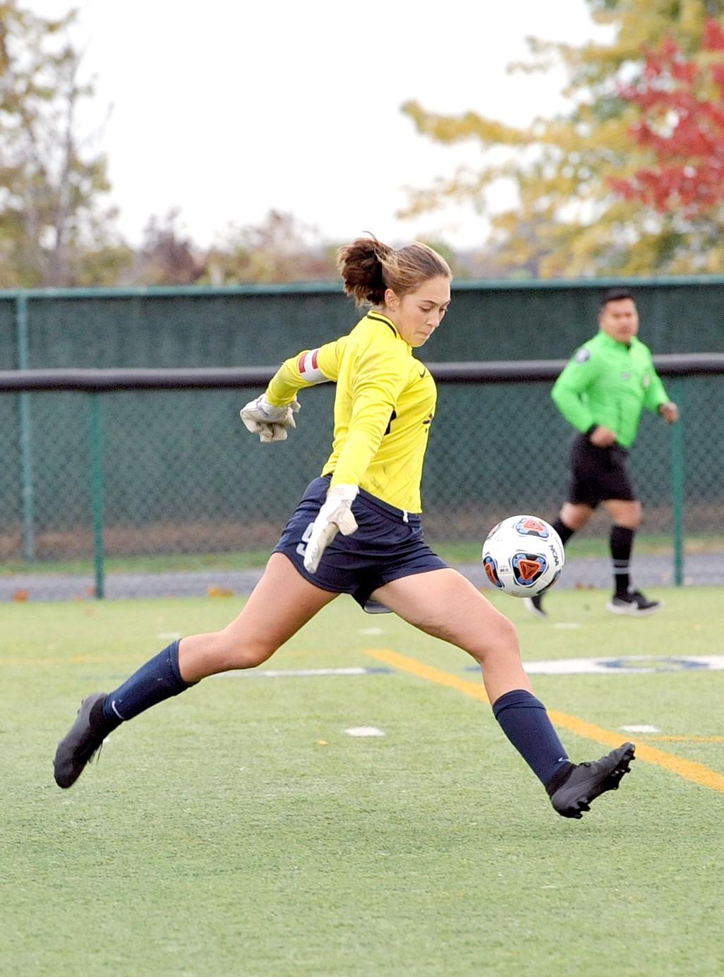 Lake junior goalkeeper Brigid Enright. (Photo by LifeTouch courtesy Lake Schools)