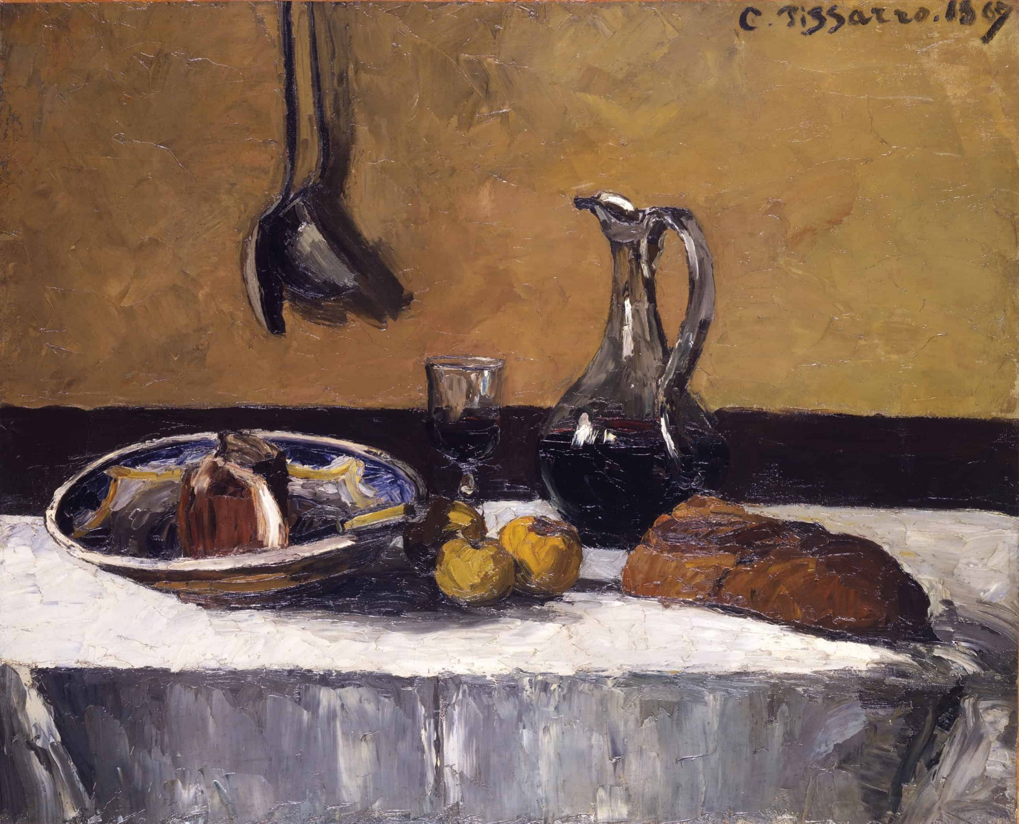 """With its solemnity and spontaneity, Camille Pissarro's """"Still Life of 1867"""" is among the compositions featured in the Toledo Museum of Art's upcoming one-gallery focus exhibition, """"One Each: Still Lifes by Pissarro, Cézanne, Manet & Friends."""" (Photo courtesy of the Toledo Museum of Art)"""