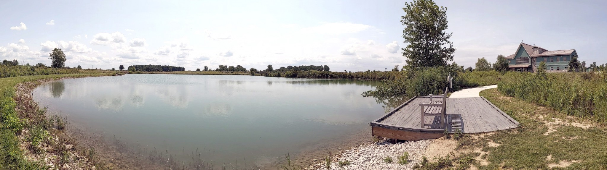 A panoramic view of the Visitor Center fishing access pond near the wheelchair accessible fishing platform. (Submitted photo)
