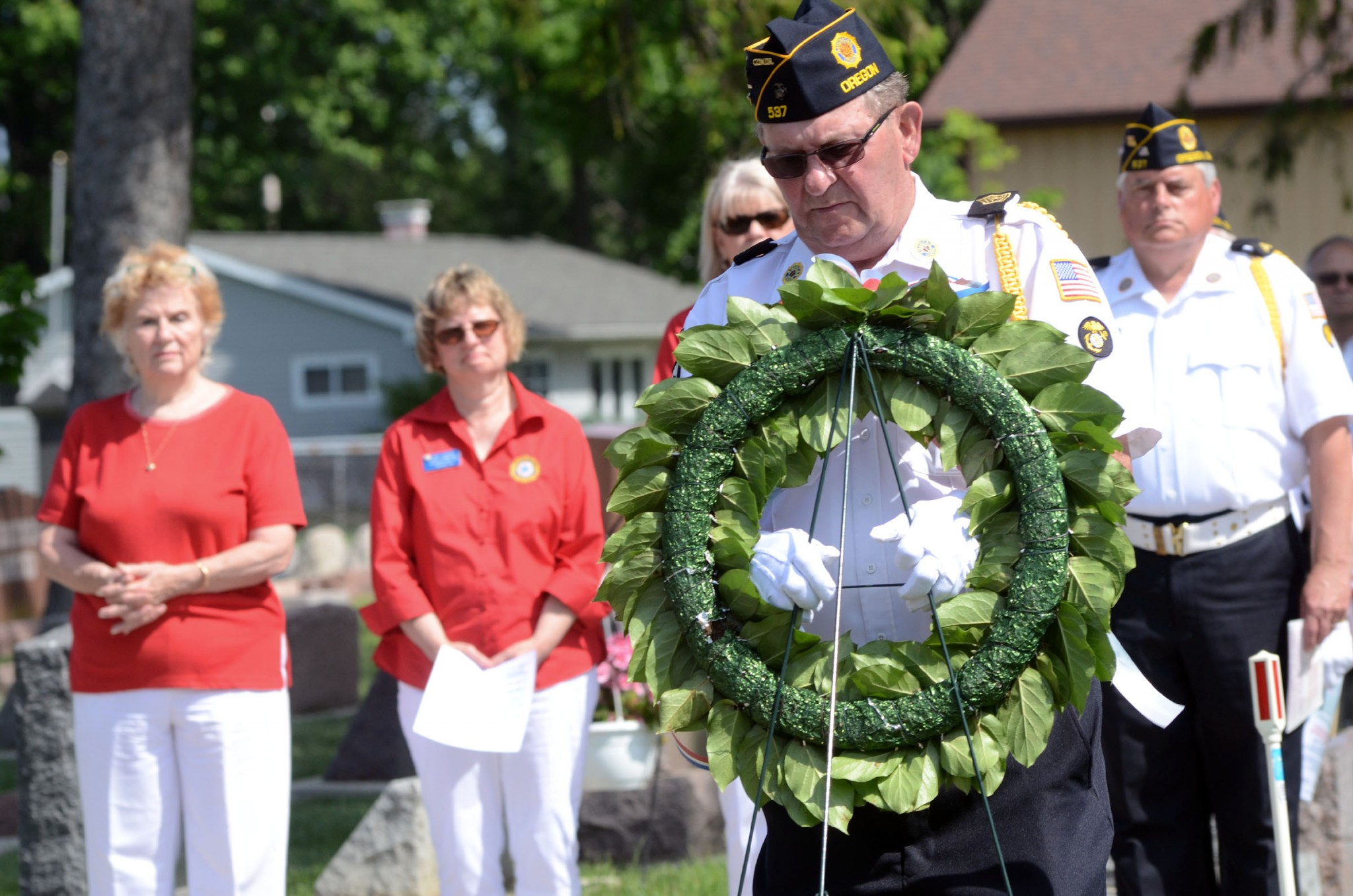 members of Christ Dunberger American Legion Post 537 at a Memorial Day celebration. (Press file photo by Ken Grosjean)