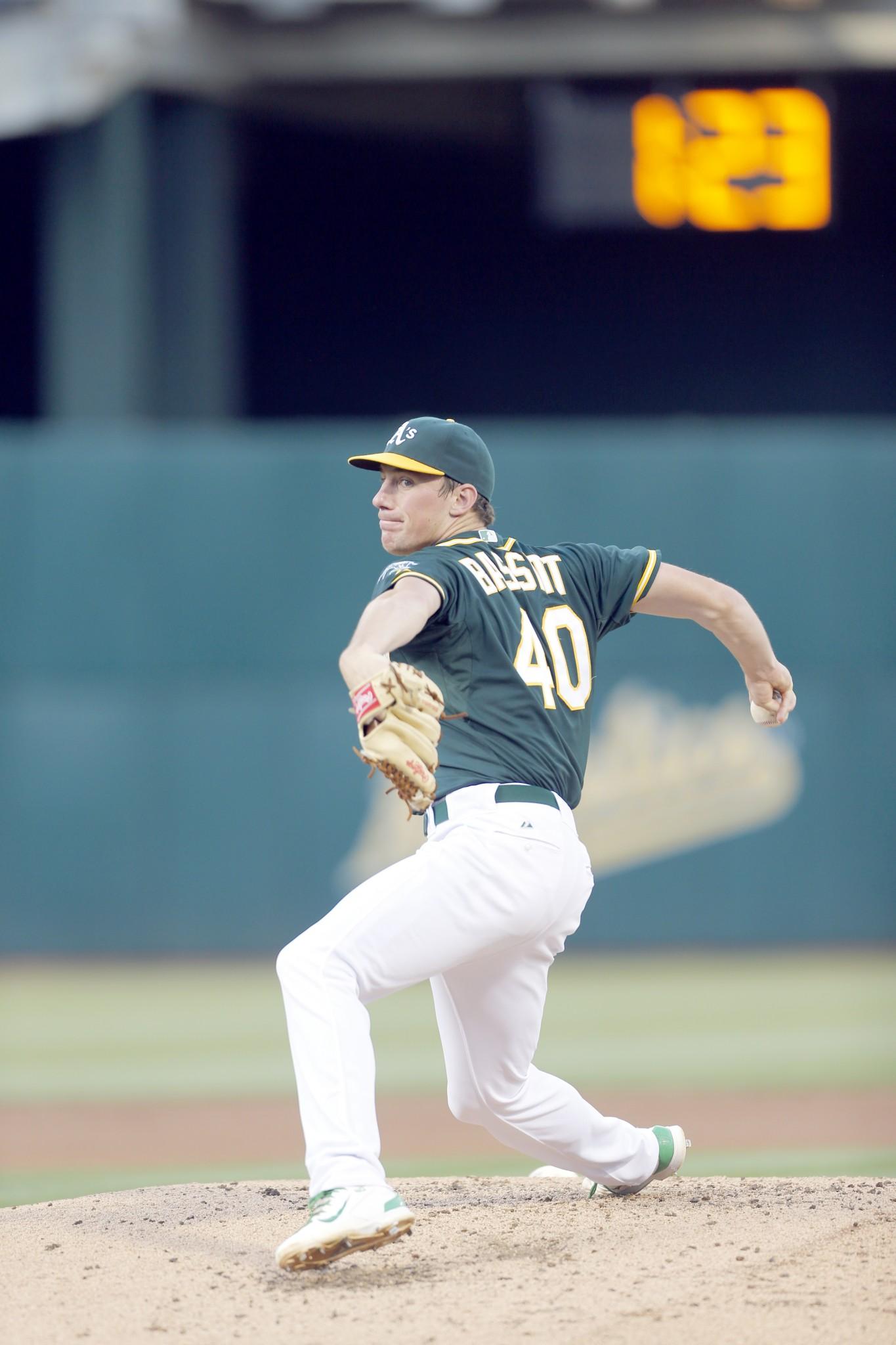 Oakland Athletics pitcher Chris Bassitt (Genoa/University of Akron). (Photo courtesy Oakland Athletics)