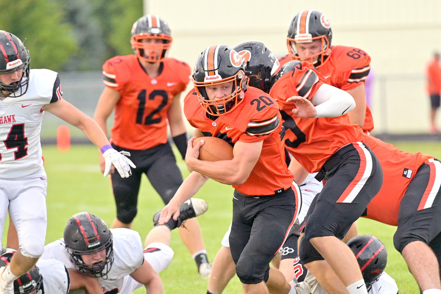 """Gibsonburg junior fullback Conner Smith has 792 yards rushing through five games. (Photo courtesy Innovations Portrait Studio/<a href=""""http://www.InnovationsVisualImpact.com"""">www.InnovationsVisualImpact.com</a>)"""