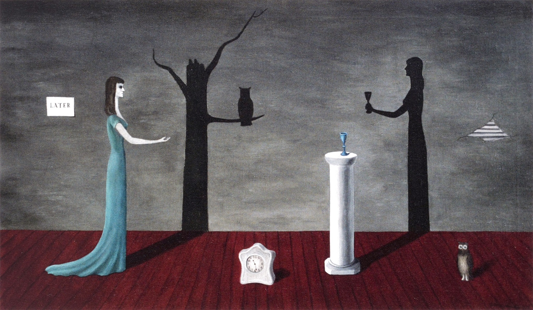 """Gertrude Abercrombie's oil on canvas, """"Strange Shadows (Shadow and Substance) is among the works featured in """"Supernatural America: The Paranormal in American Art,"""" on exhibit at Toledo Museum of Art June 12-Sept. 5. (Photo: © James Prinz Photography, Chicago)"""